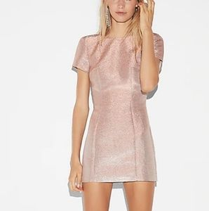 Metallic Short Sleeve Party Dress